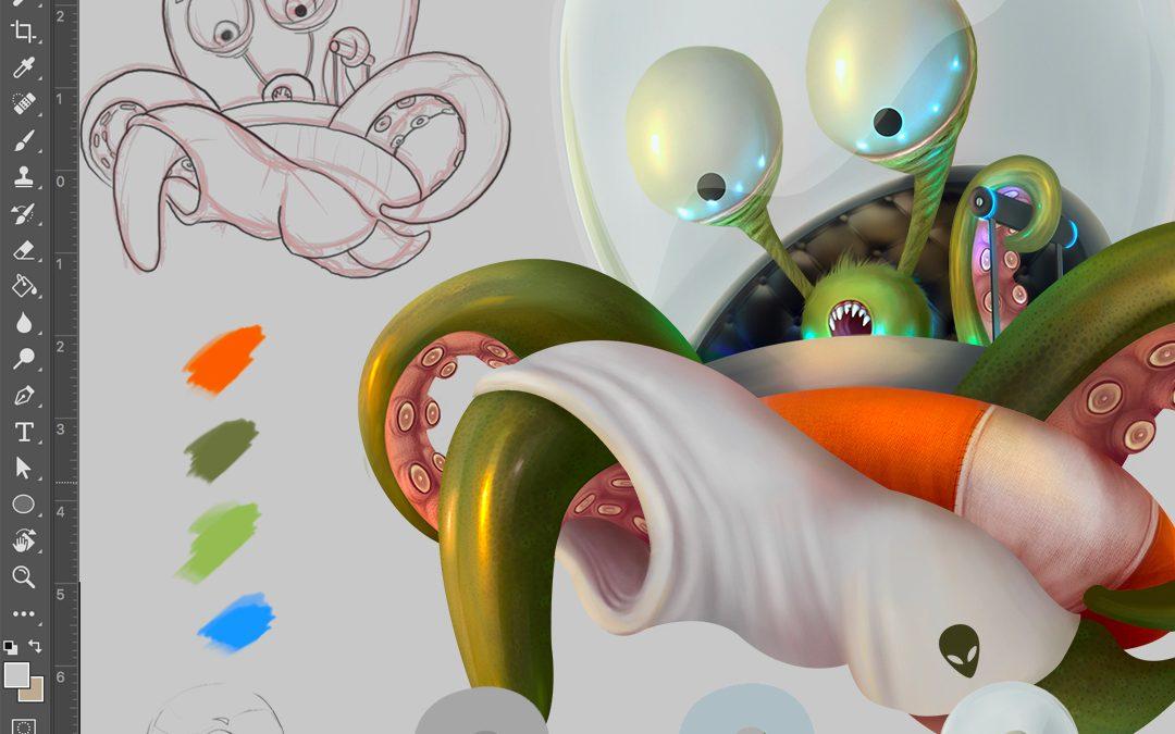 Curso intensivo uso de Photoshop y creación de personajes
